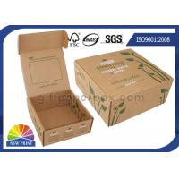 Quality Printed Brown Corrugated Mailer Box kraft paper gift boxes Beauty Product Packaging for sale