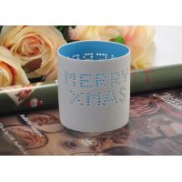 Quality High Temperature Hollow ceramic tealight candle holders for Christmas , Different Patterns for sale
