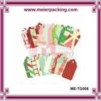 Quality Colorful hang tags, eco-friendly paper tags, recycle paper gift tags ME-TG008 for sale