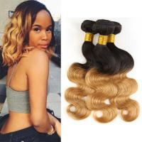China Two Tone Ombre Human Hair Extensions Brazilian Loose Wave Hair Weave 1B / 30 on sale