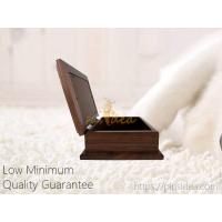 China Good Quality Pine Wood Walnut Color Photo Frame Pet Aftercare Tribute Keepsake Urn Chest Box, LOW Minimum Order on sale