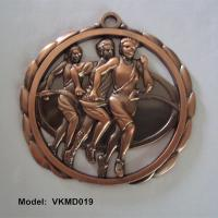 Quality Hollow running race medal, bronze plated blank hollow running campaign medallions, for sale