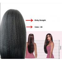 Quality 12 Inch Real Natural Human Hair Wigs Kinky Straight Tangle Free for sale