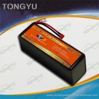 Quality Rechargeable UAV 6S 22.2V 6500mAh 40C LiPo RC Battery Pack for sale