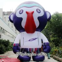 China Inflatable Cartoon Model, Standing Inflatable Monkey for Boxing Match on sale