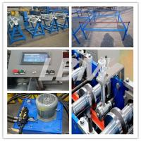 Grey color high hydraulic cut type door shutter roll forming machine full automatic 2018 new design