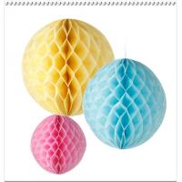 China Party Decoration colorfull Tissue Paper Honeycomb Balls,Diamonds Peach,Bauble on sale