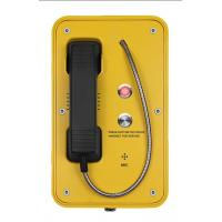 Quality IP67 Marine Auto Telephone With Indicator Light , Mining SOS Industrial Intercom System for sale