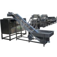 Quality 500kg / H Automatic Food Processing Machines Potato Peeling Washing Line for sale