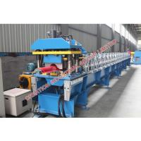 Quality Red Rounded Ridge Cap Roll Forming Machine With Pressed Steps for sale