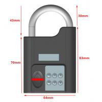 Buy High Security Intelligent Bluetooth Door Alarm Lock Smart Travel Luggage Padlock at wholesale prices