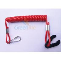 Quality Quick Cut - Out Kill Switch Lanyard Solid Red Spiralled Strap Stretch 1 Metre for sale