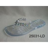 China Clear Jelly Flip Flops with Jewel on sale