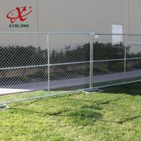 Quality High Quality Temporary Chain Link Fence Panels Various Size / Color Acceptable for sale