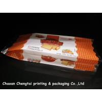 Quality Food Grade Gusseted Plastic Bags For Biscuit / Bread / Cake Packaging QS Approval for sale