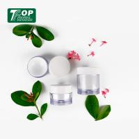 Quality Thick Wall 30g Acrylic Cream Jar ABS Cap PP Collar Material Solid With Lids for sale