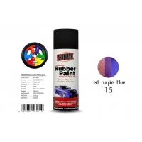 Quality Air Dry Removable Rubber Spray Paint With Chameleon Red - Purple - Blue Color for sale