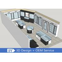 Quality Modern MDF Jewellery Showroom / Custom Jewelry Display Cases for sale