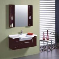 Quality PVC Bathroom Cabinet with 99.5 x 46.5 x 20cm Basin Size for sale
