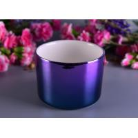 Quality Colorful Painting Electroplated Candle Holder Ceramic Different Sizes Available for sale