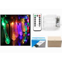 Quality Indoor Battery Operated LED String Lights Warm White / Red Water Drop Shape for sale