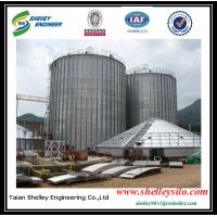 Quality corrugated flat bottom steel silo with elevator/conveyor handling equipments for sale
