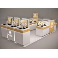 Buy Small Space Retail Shopping Mall Kiosk / Jewellery Display Cabinets Stable Structure at wholesale prices