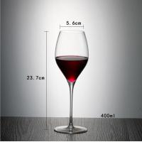 China China manufacture customized high quality hand-blown lead free crystal wine glass on sale