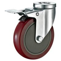 "Quality Pressed Steel Housing PU Caster Wheel For Case Carts Utility Carts 5""X1-1/4"" for sale"