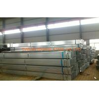 Quality DIN1626 / BS1387 Welded Pre Galvanized Steel Pipe For Shipbuilding , Bridging for sale