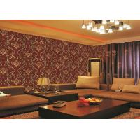 Quality Brick Red Non-Pasted Vinyl Coated Paper Contemporary Wall Wallpaper For Administration for sale