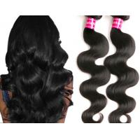 Quality Glam Bright Red Peruvian Human Hair Water Wave / Body Wave Virgin Hair for sale