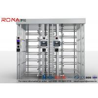 Quality 304 Stainless Steel Turnstile Full Height Brushed Surface Treatment With Double Lane for sale