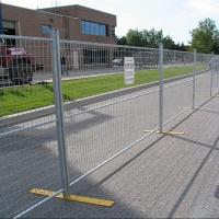 Quality AS 4687 standard 2.4x2.1m galvanized temporary fence with plastic feet and clamp for Australia for sale