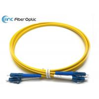 Quality LSZH Singlemode Fiber Optic Patch Cables LC/UPC to LC/UPC Yellow 3 Meter for sale