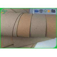 Quality Mixed Pulp High Stiff Brown Craft Paper Roll 80gsm - 140gsm For Corrugated Box for sale