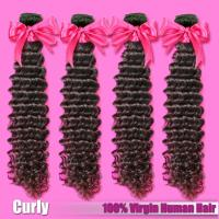 Quality Indian/Mongolian Curly Virgin Hair,Deep Curly,Kinky Curly Virgin Human Hair Weave,12-30inches Free Shipping for sale