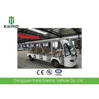 Quality 11 Sofa Seats Electric Sightseeing Car With Rear Cargo Box / Fiber Glass Body for sale