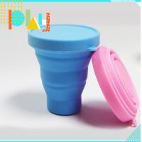 Buy cheap Silicone Rubber Products silicone folding cup with lid for picnic / home / from wholesalers