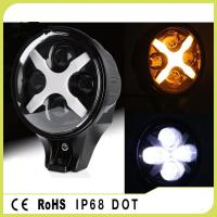 Quality 60W IP68 Round Led Fog Lights , Amber / White / Green Jeep Wrangler Headlights for sale