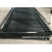 Quality Factory Security Automatic Driveway Gates / Ornamental Metal Railings for sale