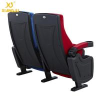 Buy Geniune Leather High Density Molded Foam Movie Theater Seats With Cup Holder at wholesale prices