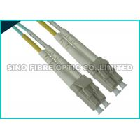 Buy cheap Uniboot LC Fibre Patch Leads , 10G OM3 Duplex Aqua Fiber Patch Cable Multimode from wholesalers