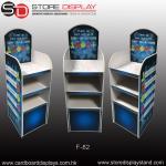 Quality POP FSDU corrugated floor display shelves for sale
