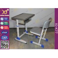 Quality School Furniture Single Student Desk And Chair With Strengthened Station Leg for sale