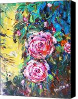 Quality flower painting blue rose room wall decor for sale