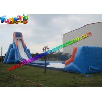 China Commercial Gaint Inflatable Slip N Slide Plato 0.55 mm PVC Tarpaulin on sale