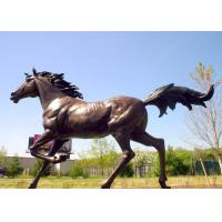 Buy cheap Casting Finish Life Size Large Running Bronze Horse Sculpture from wholesalers