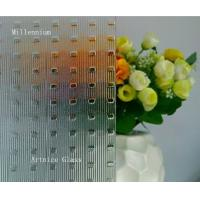 Buy 3mm to 8mm Millennium Patterned Glass, Rolled Glass, Figured Glass with Certificate ISO and BV at wholesale prices