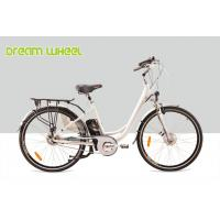 Quality Lady City Electric Bicycles Cruising Bike 700C Electric Front Wheel Gear Motor roller brake for sale